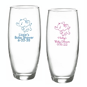 Baby Elephant Stemless Champagne Glasses (9 oz)