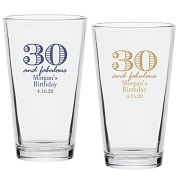 30 And Fabulous Birthday Pint Glass (16 oz)