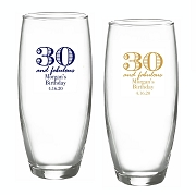 30 and Fabulous Stemless Champagne Glasses (9 oz)