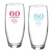60 and Fabulous Stemless Champagne Glasses (9 oz)