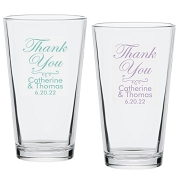 Thank You Personalized Pint Glasses (16 oz)