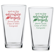 And So the Adventure Begins Personalized Pint Glass (16 oz)