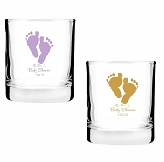 Baby Feet Personalized Shot Glass Votive Candle Holders (2 oz)