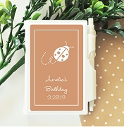 Lady Bug Personalized Note Book Travel Journal