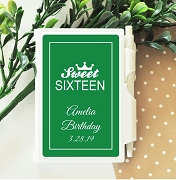 Sweet Sixteen Birthday Personalized Notebook Travel Journal
