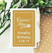 Quinceanera Party Favor Personalized Notebook Travel Journal