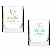 Personalized Shot Glass/Votive Holder - Let's Celebrate