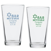 Bar Mitzvah Personalized Pint Glass (16 oz)