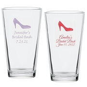 High Heel Shoe Personalized Pint Glass (16 oz)