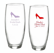 High Heel Shoe Personalized Stemless Champagne Glasses (9 oz)
