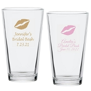 Lip Kiss Personalized Pint Glass (16 oz)