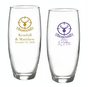 The Hunt Is Over Personalized Champagne Glasses (9 oz)
