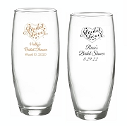 Bridal Shower Personalized Stemless Champagne Glasses (9 oz)
