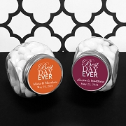 Best Day Ever Personalized Glass Candy Jars