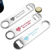All You Need Is Love Personalized Silver Oblong Bottle Opener