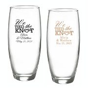 We Tied the Knot Personalized Stemless Champagne Flute (9 oz)
