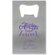 Personalized Credit Card Bottle Opener - Always & Forever