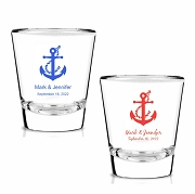 Personalized Shot Glasses - Nautical Anchors