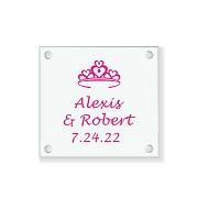 Heart Crown Personalized Coaster