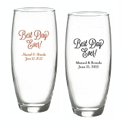 Best Day Ever Personalized Stemless Champagne Glasses (9 oz)