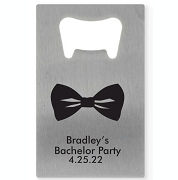 Bowtie Personalized Credit Card Bottle Opener