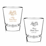 Bridal Shower Heart Personalized Shot Glasses (1.75 oz)