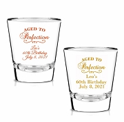 Aged To Perfection Personalized Shot Glasses (1.75 oz)