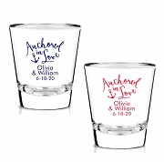Anchored In Love Personalized Shot Glasses (1.75 oz)