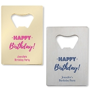 Happy Birthday Personalized Credit Card Bottle Opener
