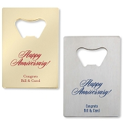Happy Anniversary Credit Card Bottle Opener