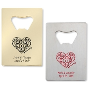 Key To My Heart Personalized Credit Card Bottle Opener