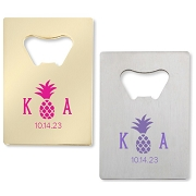 Monogram Pineapple Personalized Credit Card Bottle Opener