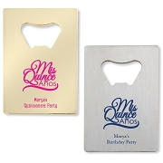 Mis Quince Anos Personalized Credit Card Bottle Opener