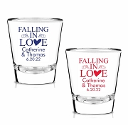 Falling In Love Personalized Shot Glasses (1.75 oz)