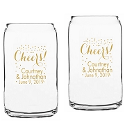 Cheers Personalized Beer Can Glasses (16 oz)