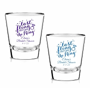 Last Fling Before the Ring Personalized Shot Glasses (1.75 oz)