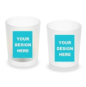 Custom Design Personalized Frosted Glass Votive