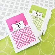 Mod Monogram Personalized Notebook Wedding Favors