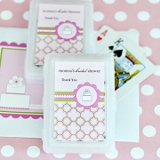 Personalized Playing Cards - Pink Cake