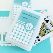Personalized Playing Cards - Something Blue