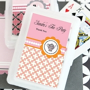 Tea Party Personalized Playing Cards