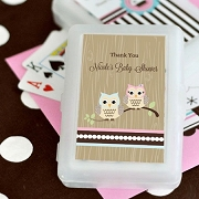 Woodland Owl Personalized Playing Cards