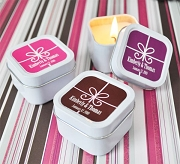 Square Gift Box Personalized Candle Tins