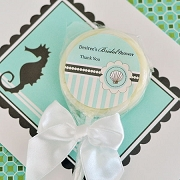 Personalized Lollipop Bridal Beach Party Favors