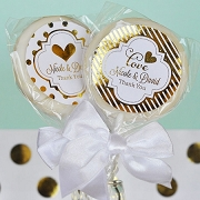 Metallic Foil Lollipop Wedding Favors