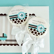 Personalized Lollipop Favors - Blue Baby Shower Favors