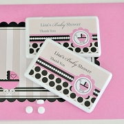 Personalized Mini Mint Favors - Pink Baby