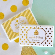 Personalized Metallic Foil Mini Mint Favors
