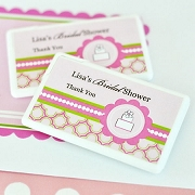 Personalized Mini Mint Favors - Pink Cake