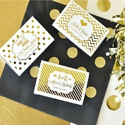 Customized Match Boxes (set of 50) - Metallic Foil Personalized Labels
